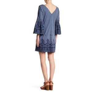 1b75d10b Eliza J Dresses | Embroidered Denim Dress | Poshmark